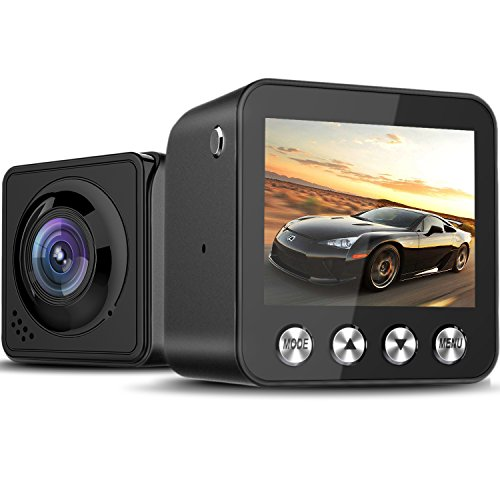 Zintou Dash Cam, Dash Camera 1080P 1.5″ Mini Dash Cam Dashboard Recording Camera 168°Wide Angle Loop Recording G-Sensor Parking Monitor-Black Review