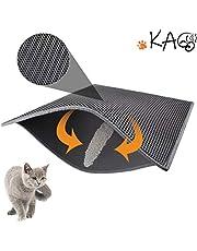 """KAG Cat Litter Mat Litter Trapper Large Size 30""""X 24"""", a Nido d'Ape a Doppio Strato Impermeabile Impermeabile Materiale a Prova di Urto, Facile Controllo Clean Scatter (Grigio)"""