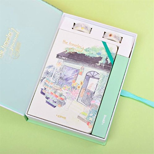 Easyflower Convenient Practical School Stationary Writing Set Idea for Girls Boxed Children's Notebook & Stationery Gift Set(Florist) -