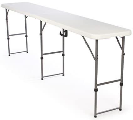 Adjustable Height Folding Tables Are Portable And Can Be Adjusted To 3  Separate Heights