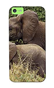 For Iphone 5c Protective Case, High Quality For Iphone 5c Elephants Skin Case Cover
