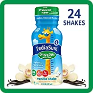 PediaSure Grow & Gain With Fiber, Kids' Nutritional Shake, With Protein, DHA, And Vitamins & Minerals, Vanilla, 8 fl oz, Pack of 24