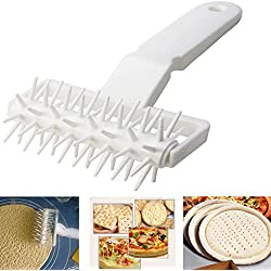Dough Roller Pastry Baking Tools DIY Plastic Pizza Cookies Pie Needle Wheels Cutter Sewing Machine Cake Bread Hole Punch.