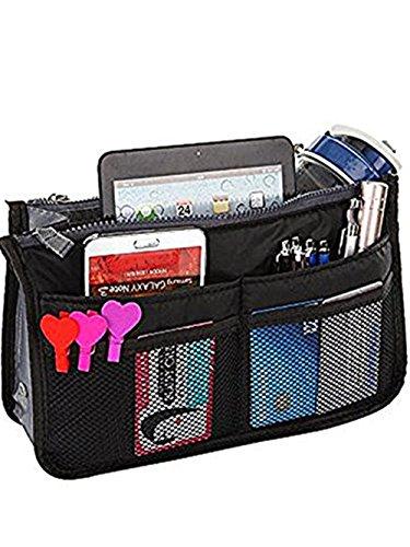 Multi-Pocket Pouch Insert Handbag Medium Size Purse Organize