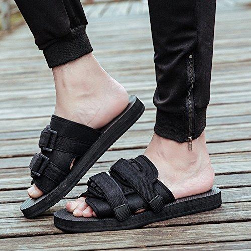 Black Des De 41 Sandales Coréens Des 40 Marée Chaussures Les Tongs Pantoufles Hommes Plage Vietnam 39 Chaussures Black JIA 42 Et Femmes Pour Hommes Personnalisées Du De HONG Antidérapantes Swqg1g8