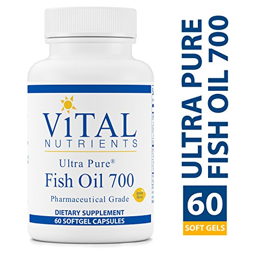 Vital Nutrients - Ultra Pure Fish Oil 700 (Pharmaceutical Grade) - Hi-Potency Wild Caught Deep Sea Fish Oil, Cardiovascular Support with EPA and DHA - 60 Softgels per Bottle