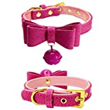 Hot Sale!2018 BIG PROMOTION!Dog Clothes❤️ZYEE❤️ Adjustable Colorful Leather With Bell Pet Puppy Dog Collar Neck Strap (S, Hot Pink)