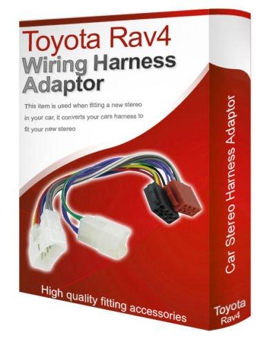 Toyota Rav4 CD radio stereo wiring harness adapter lead loom ISO converter on