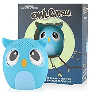 My Audio Pet Mini Bluetooth Animal Wireless Speaker with TRUE WIRELESS STEREO TECHNOLOGY – Pair with another TWS Pet for Powerful Rich Room-filling Sound – (OWLcapella Blue)