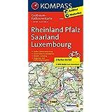 Rheinland-Pfalz - Saarland - Luxembourg: Großraum-Radtourenkarte 1:125000, GPX-Daten zum Download (KOMPASS-Großraum-Radtourenkarte, Band 3709)