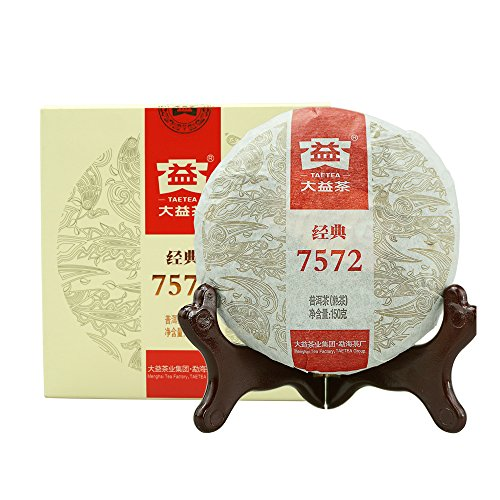 TAETEA Classic 7572 Organic Black Tea Ripe PU'ER TEA 150 Grams