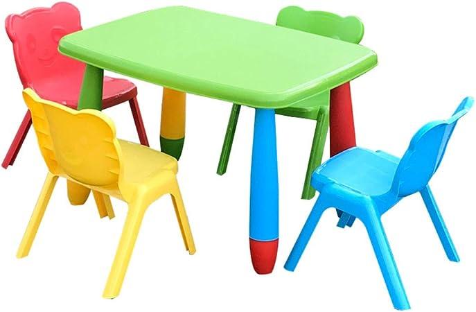 Combinación de Mesa y Silla para niños, Mesa de plástico para ...