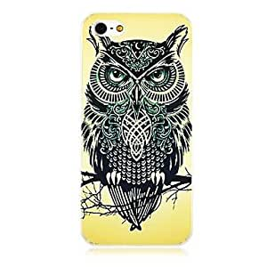 Tiger Elephant Parrot Owl Jaws Pattern Hard Cases for iphone 4s(8#)