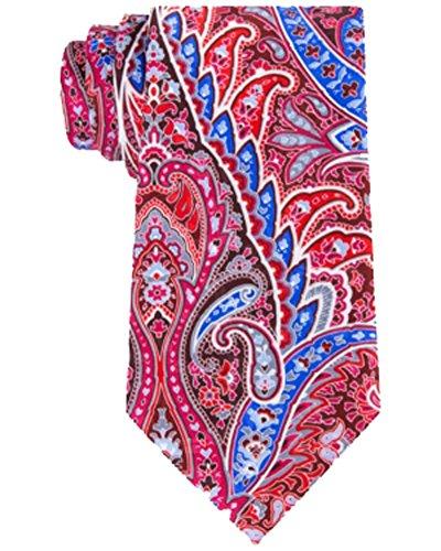 Geoffrey Beene Print Tie - Geoffrey Beene Men's Festival Chic Paisley Print Silk Neck Tie Red Not Applicable