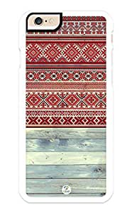 iZERCASE iPhone 6 Case Red Tribal Pattern on Wood RUBBER CASE - Fits iPhone 6 T-Mobile, Verizon, AT&T, Sprint and International