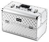 GEKO 1-Piece Vanity Case/Makeup Box Heavy Duty Silver