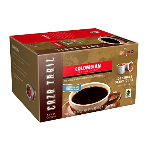 - Caza Trail Coffee, Colombian, 100 Single Serve Cups