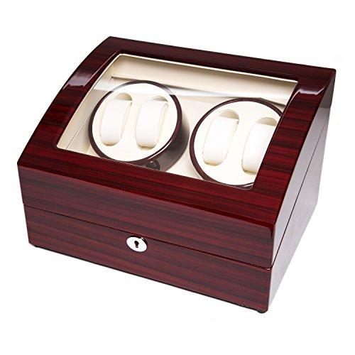 Wood 4+6 Watch Winder Mens Watches Box Storage Display Automatic Rotation Jewelry Case Organizer by Gregarder (Image #2)