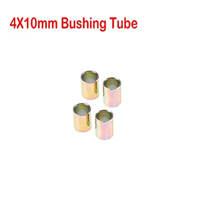 Premium Universal Motorcycle Shock Absorber Rear Suspension 10mm Bushing Tubes, 4pcs: Automotive