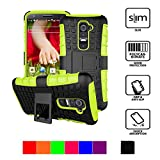 LG G2 Case,2015*HOT*{SuperProtect}Shockproof Heavy Duty Combo Hybrid Rugged Dual Layer Grip Case Cover with kickstand for LG G2. (green)