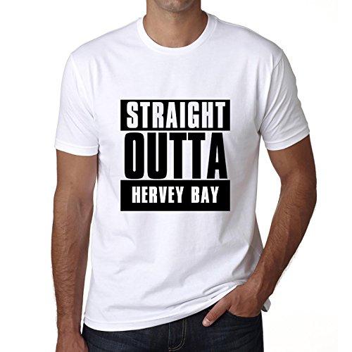 Straight Outta Hervey bay, mens tshirts, city tshirts for men, gift - Hervey Shops Bay