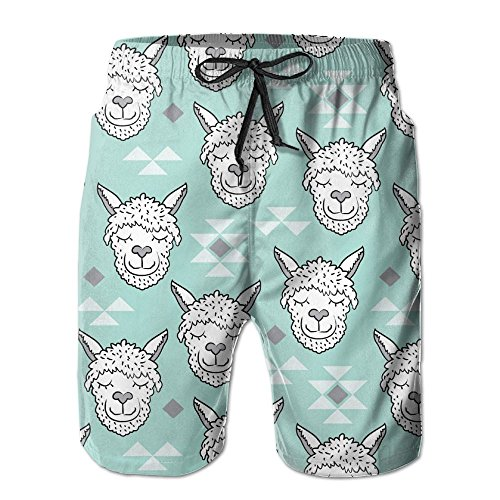Game Life Shorts Sell Meng Alpaca Mens Tree Quick Dry Swim Trunks Beach Shorts With Mesh Lining (Short Set Sea Life)