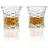 Premium Whiskey Glass Gift Set of 2 | Scotch, Bourbon, Irish Whisky, Brandy, Liqueur | Dishwasher Safe Ultra Clarity Glasses (8.28oz / 245ml).