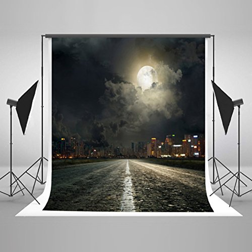 Photography Backdrops, Kate 5Ft×6.5 Ft Seamless Horrible Night Photo Backgrounds Backdrop for (Halloween Photo Booth Design)