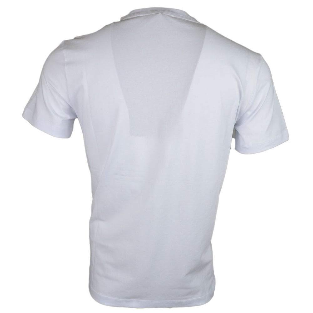 Cavalli Class Pixel Shiny Logo Cotton White T-Shirt L White
