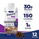 Ensure Max Protein Nutrition Shake with 30 g of protein, 1 g of sugar, Nutrition Shake, Mocha, 11 fl oz, 12 Count