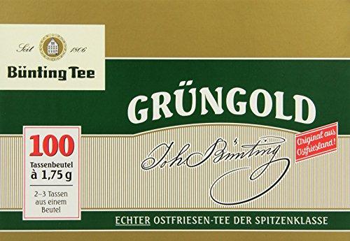 Bünting Tee Grüngold Echter Ostfriesentee 100 x 1.75 g Beutel, 5er Pack (5 x 175 g)