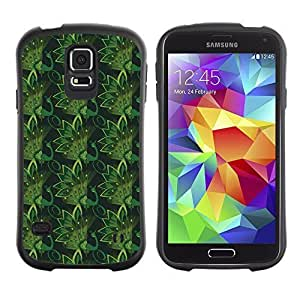 Travers-Diy FlareStar Colorful Printing green pattern Slim Fit protective case cover for SAMSUNG Galaxy S5 V glA0KkZUqCh / i9600 / / / / /