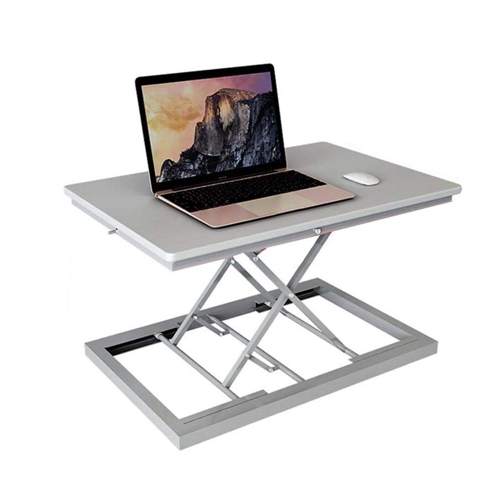 Desk, Stand-up Laptop Desk Work Desktop Monitor Lift Bracket Support Station Office Desk Portable Table, 3 Colors GAOFENG (Color : Gray)