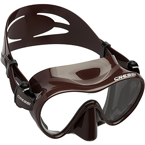 Cressi F1 Frameless Dive Mask, Brown