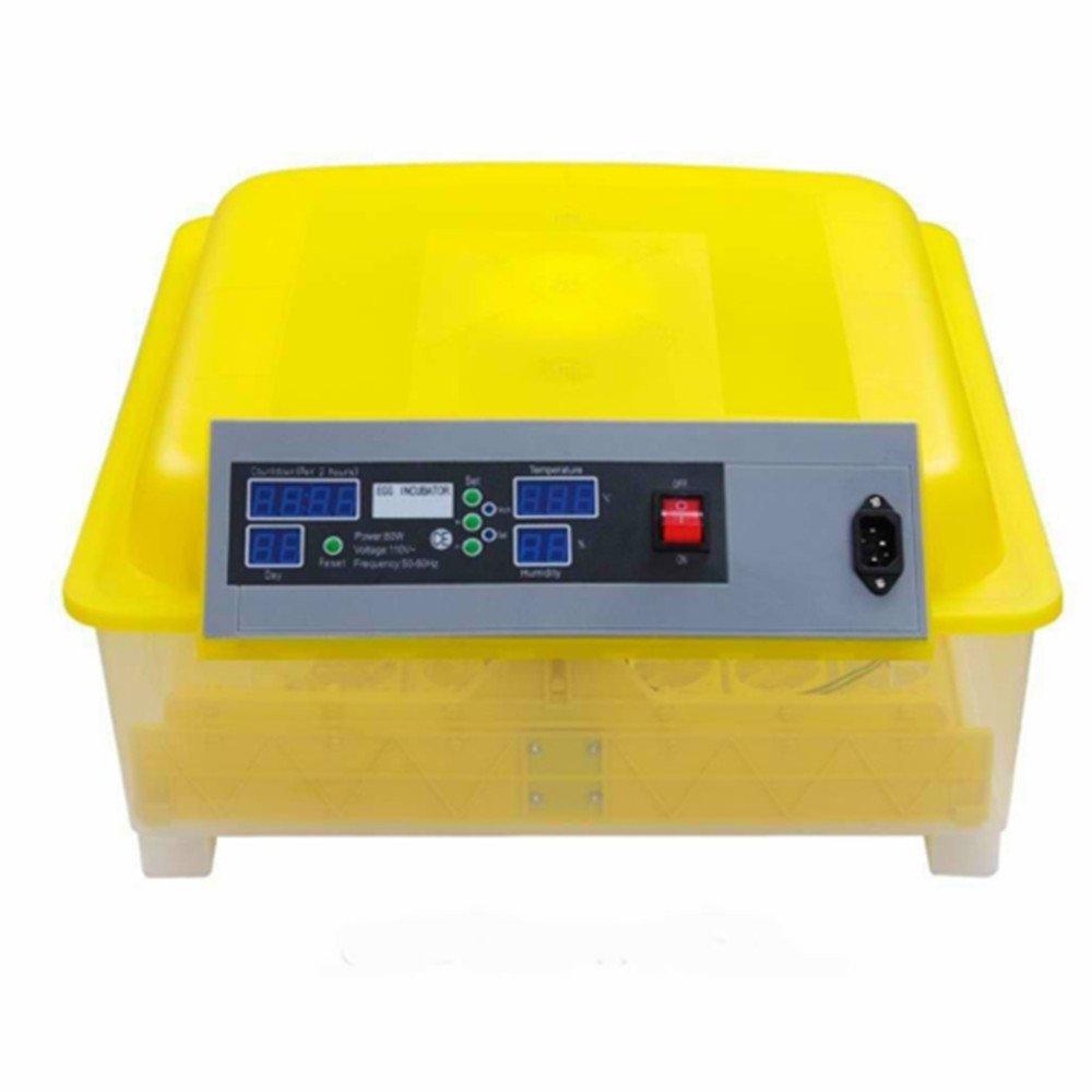 hopeu5® Inkubator Automatische 56Eier Huhn Ente Gans Wachteln Digital Brutstätte des Ei Voltigieren AUTOMATICO mit Temperaturkontrolle (220V)