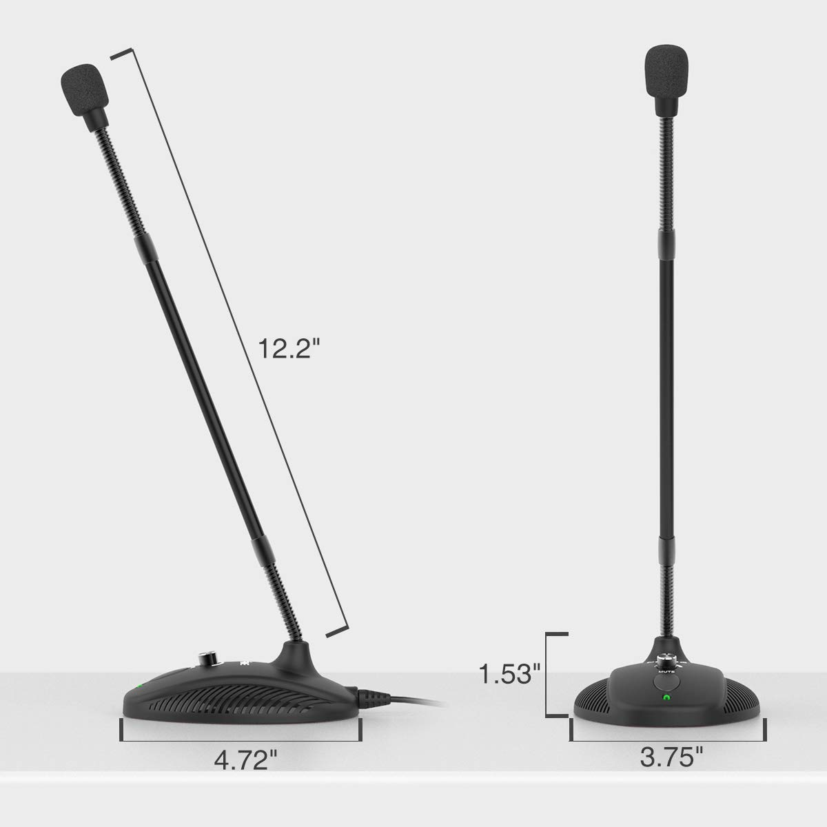Computer Microphone,FIFINE Desktop Gooseneck Microphone,Mute Button with LED Indicator,USB Microphone for Windows/Mac.Ideal for Gaming Streaming YouTube Podcast.(K052) by FIFINE TECHNOLOGY (Image #4)