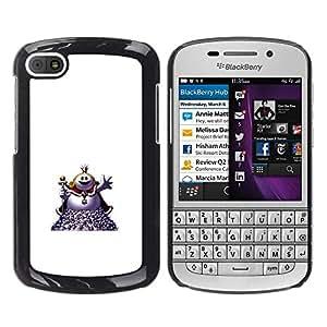 EJOY---Cubierta de la caja de protección la piel dura para el / BlackBerry Q10 / --Bienvenido bola de grasa