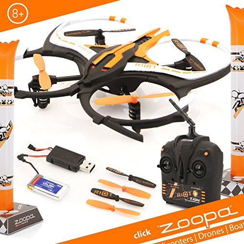 Zoopa Q 165 Riot – 6-Axis 2.4GHz Gyro RC Quadcopter Drone Vehicle