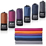 BOGI Microfiber Travel Sports Towel-(XL:72''x32''+16''x16'')-Antibacterial Dry Fast Soft Lightweight Absorbent&Ultra Compact-For Camping Gym Beach Bath Yoga Backpacking Fitness+Gift Bag&Carabiner(X:N)