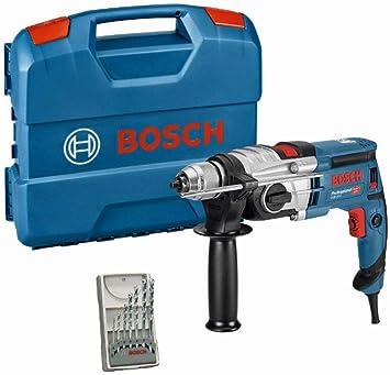 Bosch Professional GSB 20-2 - Taladro percutor (850 W, 2 velocidades, 3000 rpm, Ø max perforaci�...