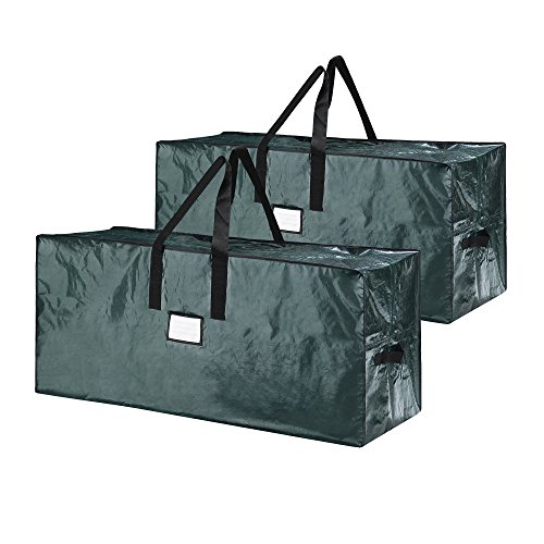 Elf Stor 83-DT5541 Storage Bag for 9 Foot Christmas 2-Pack | Store Extra Large Trees up to 17 Feet in Green