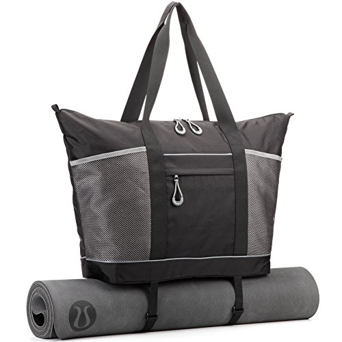 Gym Bag, Cossils Yoga Mat Bag with Roomy Pockets and Waterproof ... 63888f6b2c
