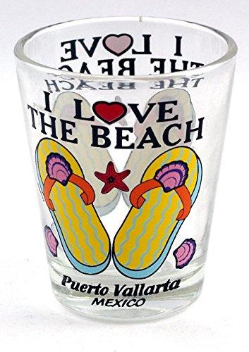 (Puerto Vallarta Mexico I Love the Beach Shot Glass)