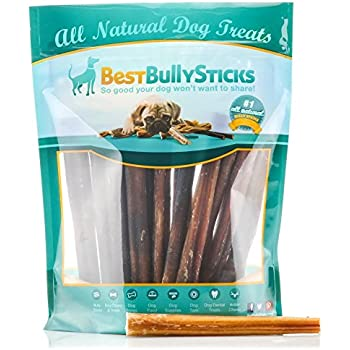 USA 6-inch Odor-Free Bully Sticks by Best Bully Sticks (18 Pack) All Natural Dog Treats