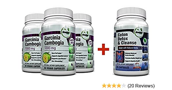 Amazon Com Colon Cleanser Detox For Weight Loss Garcinia