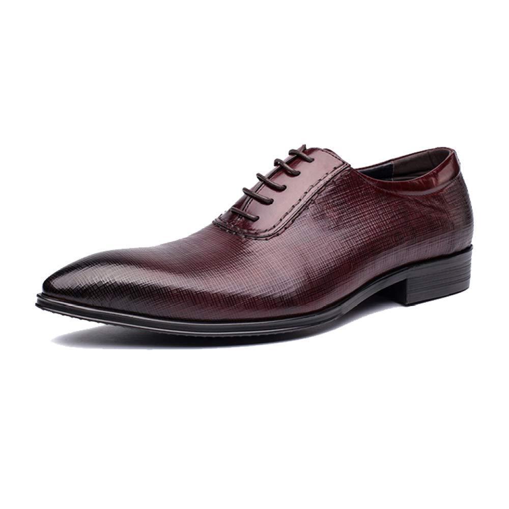 NIUMT Zapatos De Cuero Retro Retro Retro Estilo Brit aacute;nico para Hombres Zapatos De Cordones Transpirables Negocio Pointed 3c3346