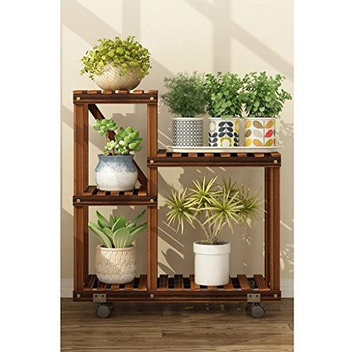 JHZWHJ Wooden Flower Rack Indoor Plant Stand Wooden Plant Flower Display Stand Wood Pot Shelf Storage Rack Outdoor (Color : A1)