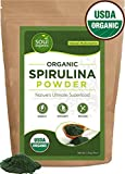 Soul Organics Spirulina Powder - USDA Organic Certified - Premium Blue Green Algae Powder for Natural Energy and Nutrition