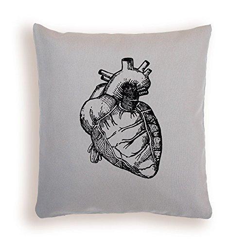 Cojín corazón anatómico. Cojín para cama o sofá con ...