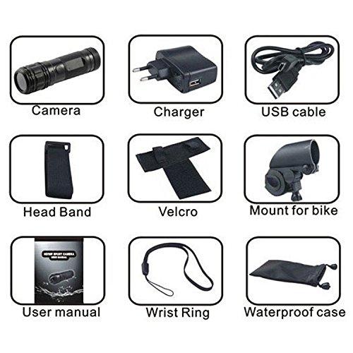 Mini Sport Caméra Embarquée pour Casque Vélo Moto 1080P plein HD Action  imperméable  Amazon.fr  High-tech 0bd128f145e0